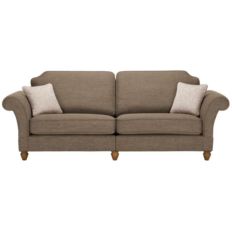 Dorchester 4 Seater High Back Sofa in Civic Pebble with Oyster Scatters - Image 1