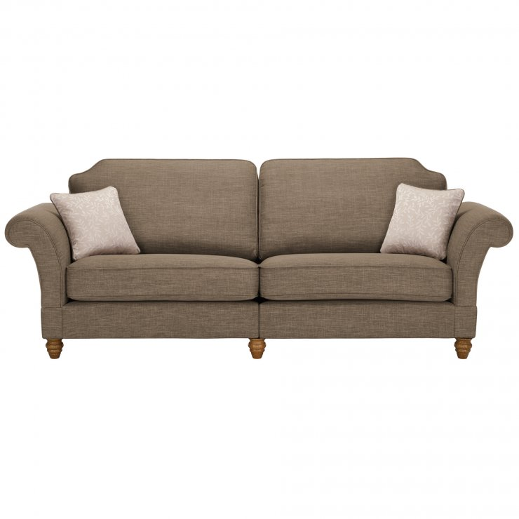 Dorchester 4 Seater High Back Sofa in Civic Pebble with Oyster Scatters