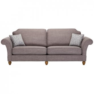 Dorchester 4 Seater High Back Sofa in Civic Smoke with Silver Scatters