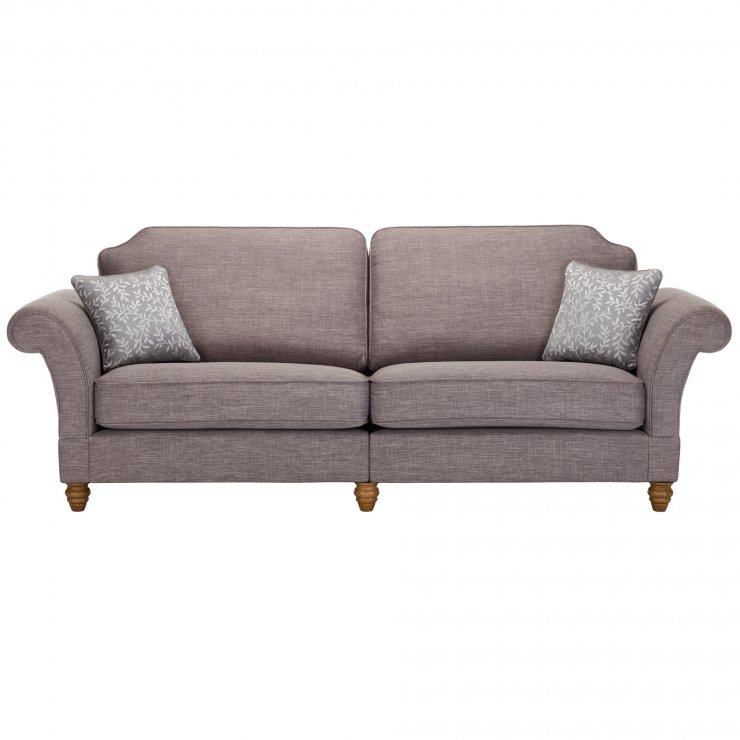 Dorchester 4 Seater High Back Sofa in Civic Smoke with Silver Scatters - Image 1