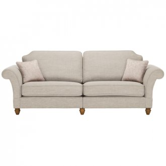 Dorchester 4 Seater High Back Sofa in Civic Stone with Oyster Scatters