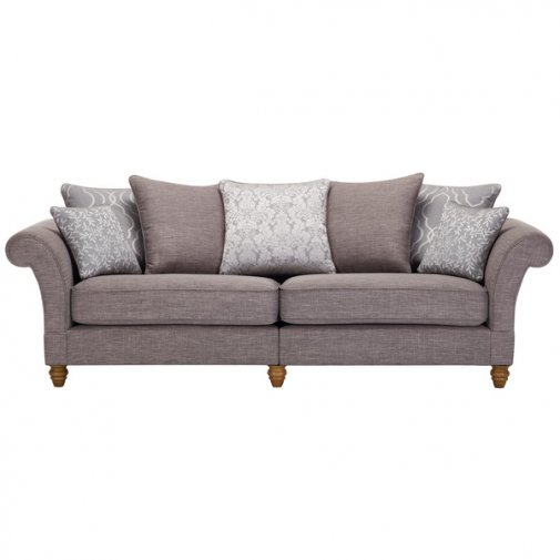 Dorchester 4 Seater Pillow Back Sofa in Civic Smoke with Silver Scatters