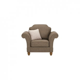 Dorchester Armchair in Civic Pebble with Oyster Scatter
