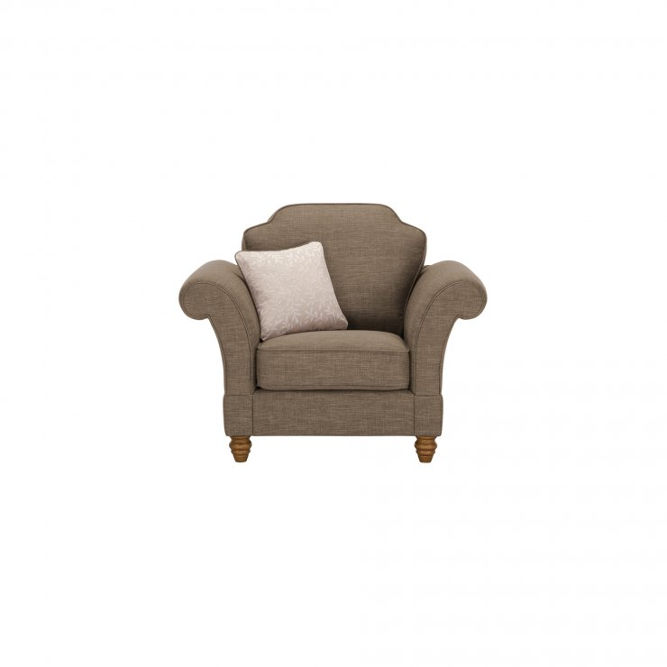 Dorchester Armchair in Civic Pebble with Oyster Scatter - Image 1