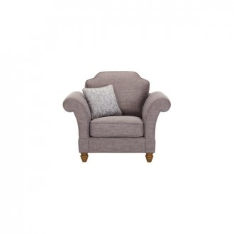 Dorchester Armchair in Civic Smoke with Silver Scatter
