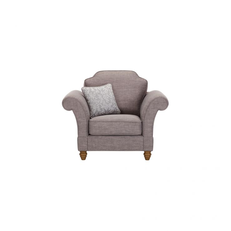 Dorchester Armchair in Civic Smoke with Silver Scatter - Image 1