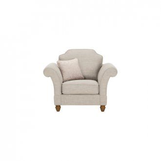 Dorchester Armchair in Civic Stone with Oyster Scatter