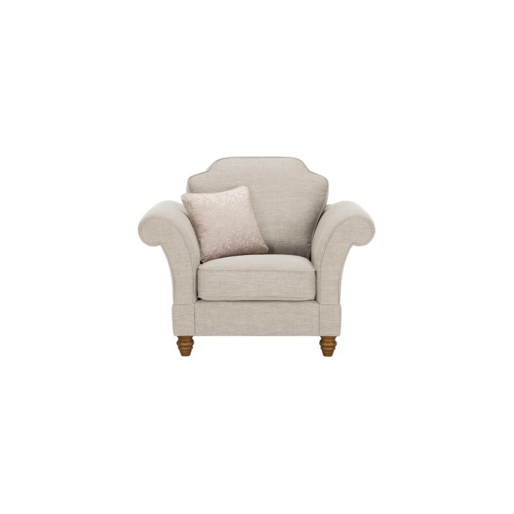 Dorchester Armchair in Civic Stone with Oyster Scatter - Image 1