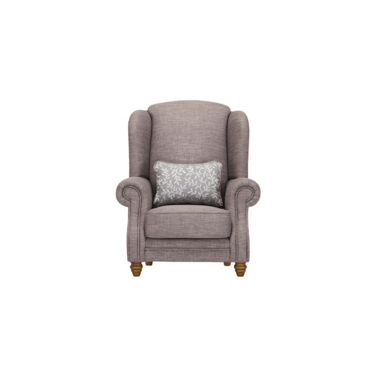 Dorchester Wing Chair in Civic Smoke with Silver Scatter - Image 1
