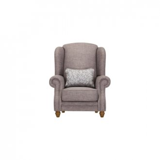 Dorchester Wing Chair in Civic Smoke with Silver Scatter