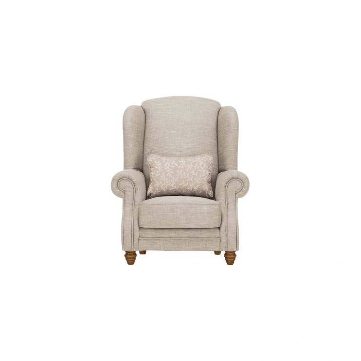 Dorchester Wing Chair in Civic Stone with Oyster Scatter - Image 1