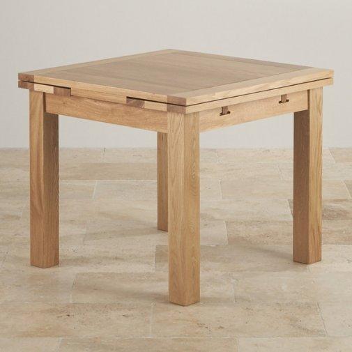 Dorset 3ft x 3ft Natural Oak Extending Dining Table