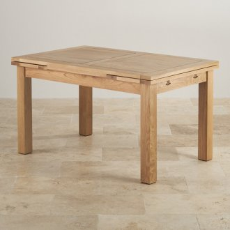 "Dorset 4ft 7"" x 3ft Natural Oak Extending Dining Table"