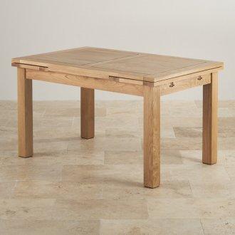 """Dorset 4ft 7"""" x 3ft Natural Oak Extending Dining Table"""