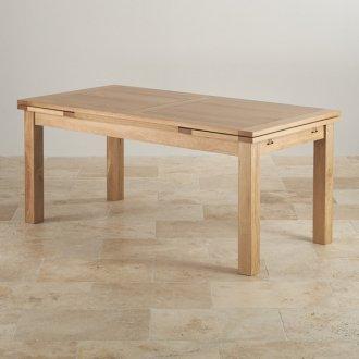 Dorset 6ft x 3ft Natural Oak Extending Dining Table
