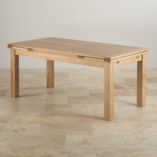 Dorset 6ft x 3ft Natural Oak Extending Dining Table