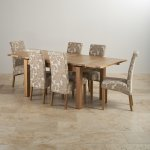 "Dorset Natural Solid Oak 4ft 7"" Extending Table + 6 Scroll Back Chairs - Thumbnail 2"
