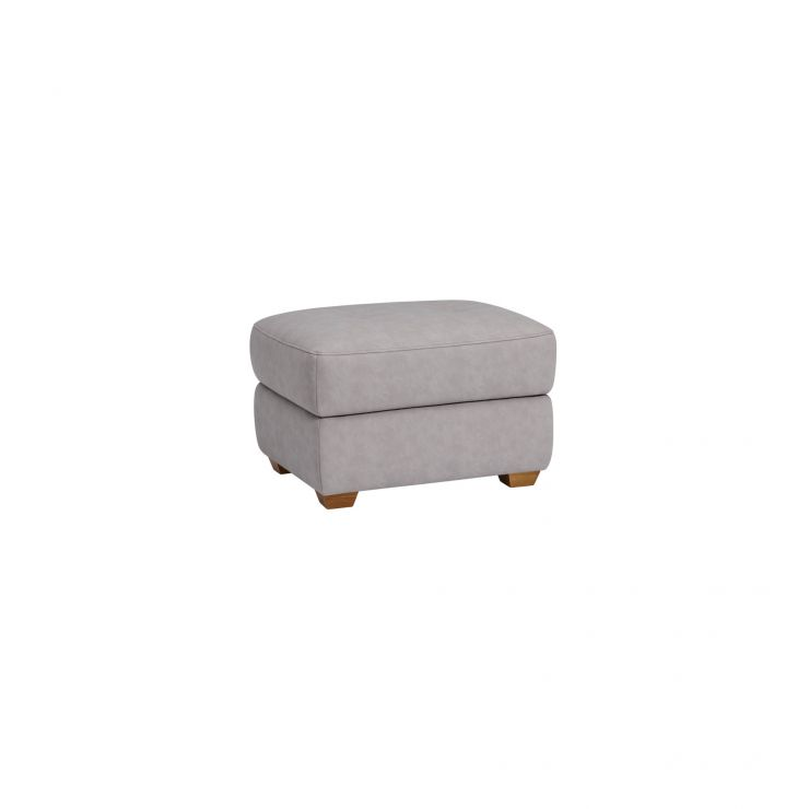 Dylan Storage Footstool - Silver Fabric
