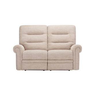 Eastbourne Electric Reclining 2 Seater Sofa - Oatmeal Fabric