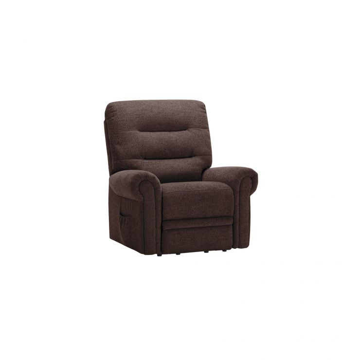 Eastbourne Electric Riser/Recliner Armchair - Charcoal Fabric
