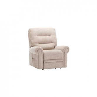 Eastbourne Electric Riser/Recliner Armchair - Oatmeal Fabric