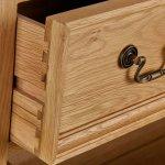 Edinburgh Natural Solid Oak 1 Drawer Bedside Table - Thumbnail 3