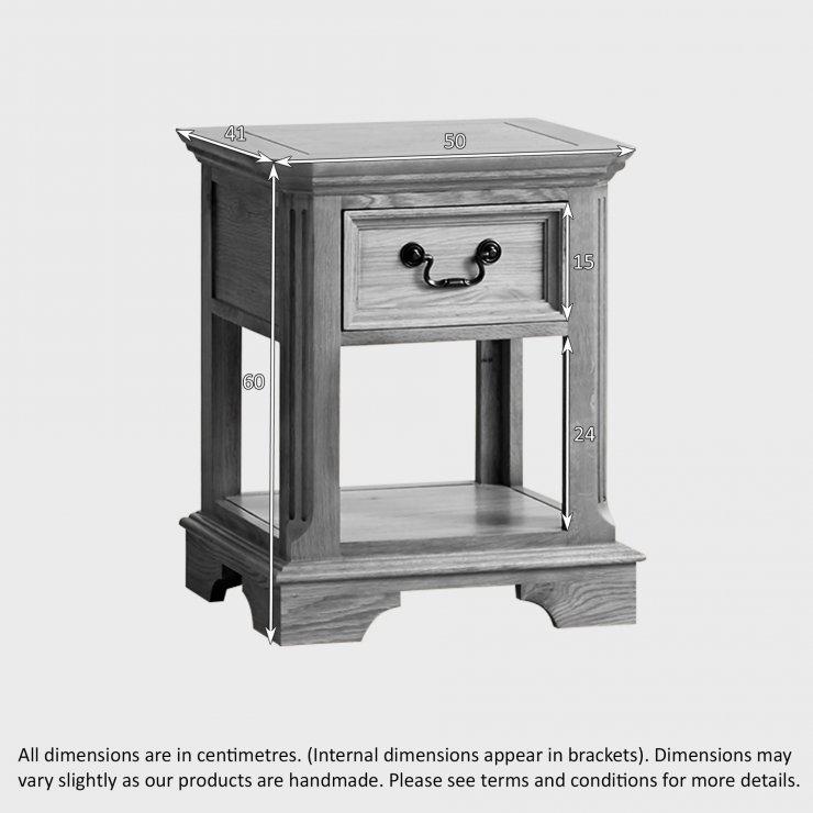 Edinburgh Natural Solid Oak 1 Drawer Bedside Table