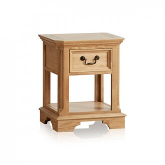 Edinburgh Natural Solid Oak 1 Drawer Bedside Table
