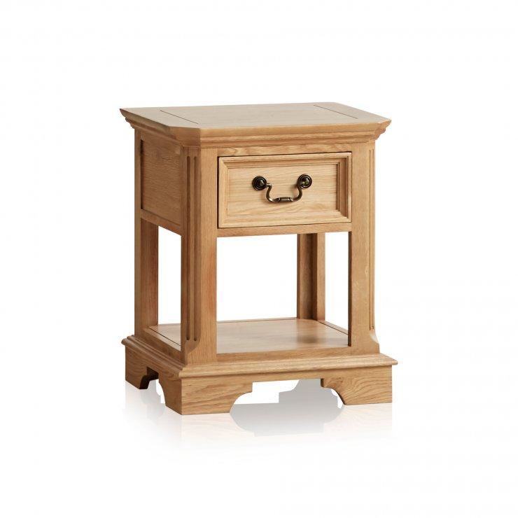 Edinburgh Natural Solid Oak 1 Drawer Bedside Table - Image 4