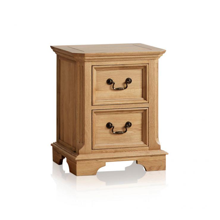 Edinburgh Natural Solid Oak 2 Drawer Bedside Table - Image 5