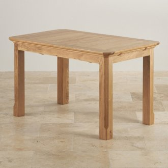 "Edinburgh Natural Solid Oak 4ft 3"" x 2ft 7"" Extending Dining Table"
