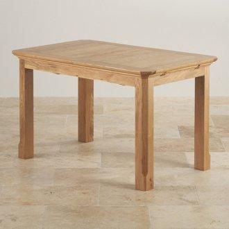 "Edinburgh Natural Solid Oak 4ft 3"" x 2ft 7"" Extending Dining Table"