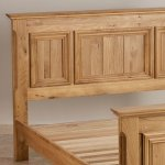 "Edinburgh Natural Solid Oak 4ft 6"" Double Bed - Thumbnail 3"