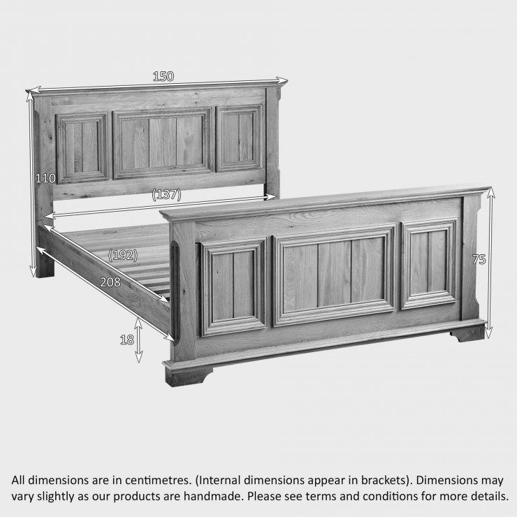 "Edinburgh Natural Solid Oak 4ft 6"" Double Bed"