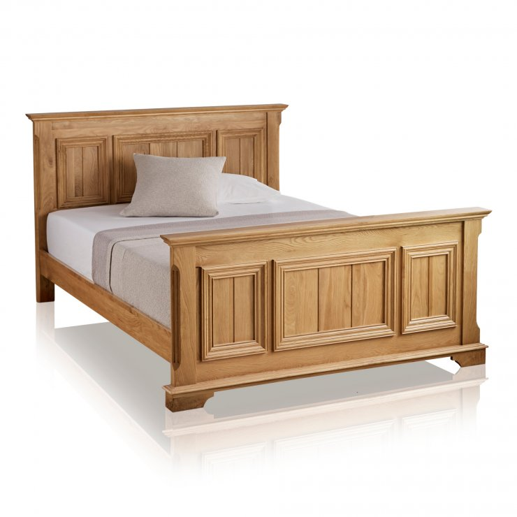 "Edinburgh Natural Solid Oak 4ft 6"" Double Bed - Image 4"