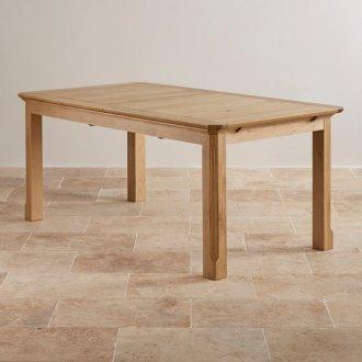 "Edinburgh Natural Solid Oak 6ft x 3ft 3"" Extending Dining Table"