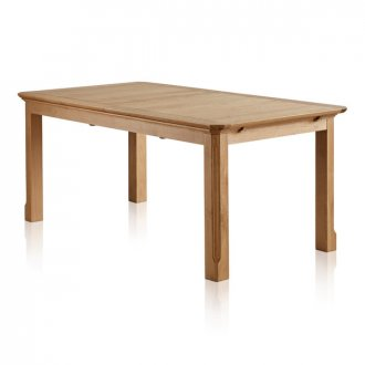 "Edinburgh Natural Solid Oak 6ft x 3ft 3"" Extending Dining Table"