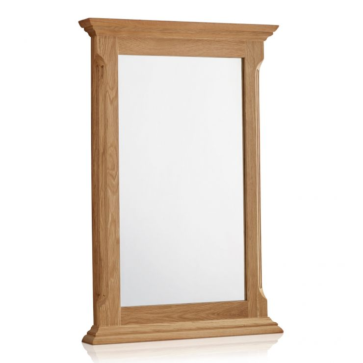 Edinburgh Natural Solid Oak 900mm x 600mm Wall Mirror - Image 4