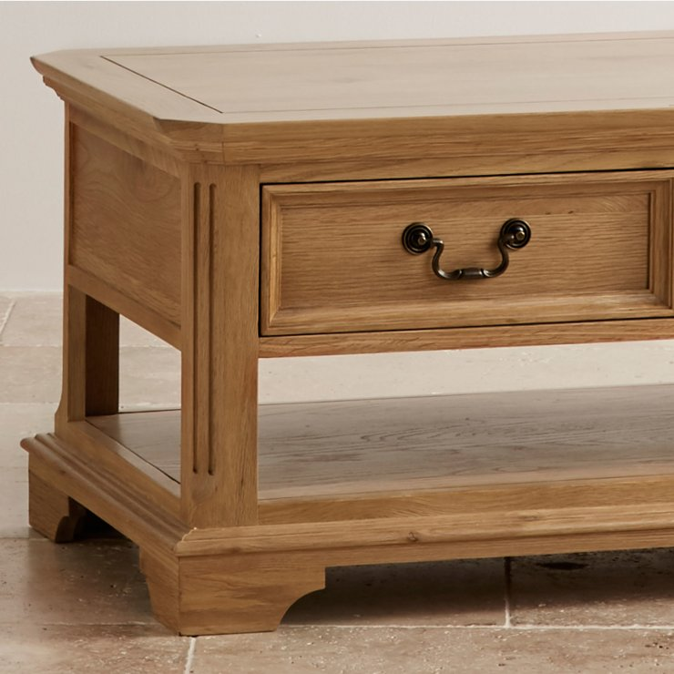 Edinburgh Natural Solid Oak 4 Drawer Coffee Table