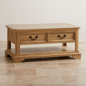 Edinburgh Natural Solid Oak 4 Drawer Coffee Table