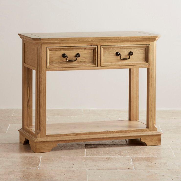 Edinburgh Natural Solid Oak Console Table - Image 5