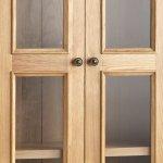 Edinburgh Natural Solid Oak Display Cabinet - Thumbnail 3