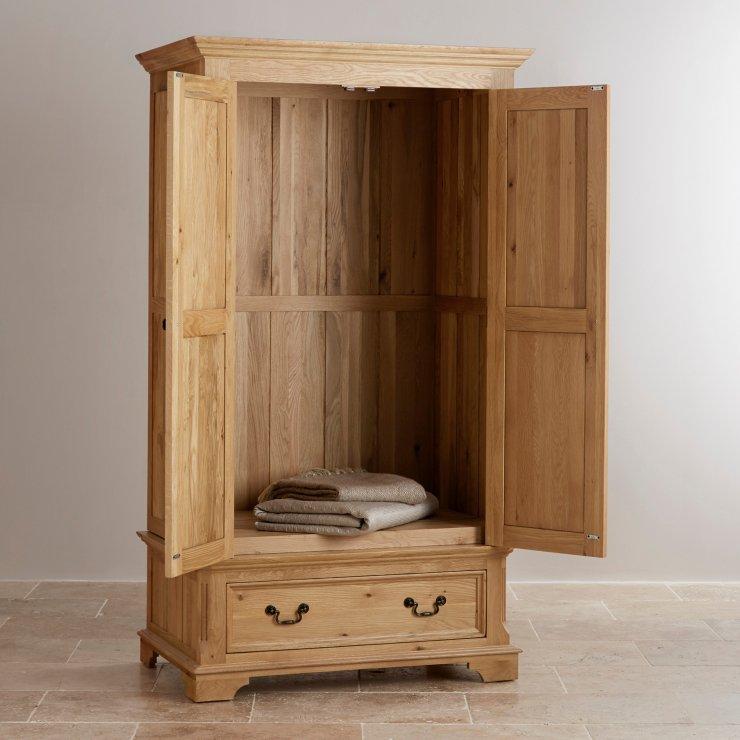 Edinburgh Natural Solid Oak Double Wardrobe