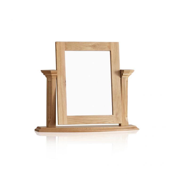 Edinburgh Natural Solid Oak Dressing Table Mirror - Image 4