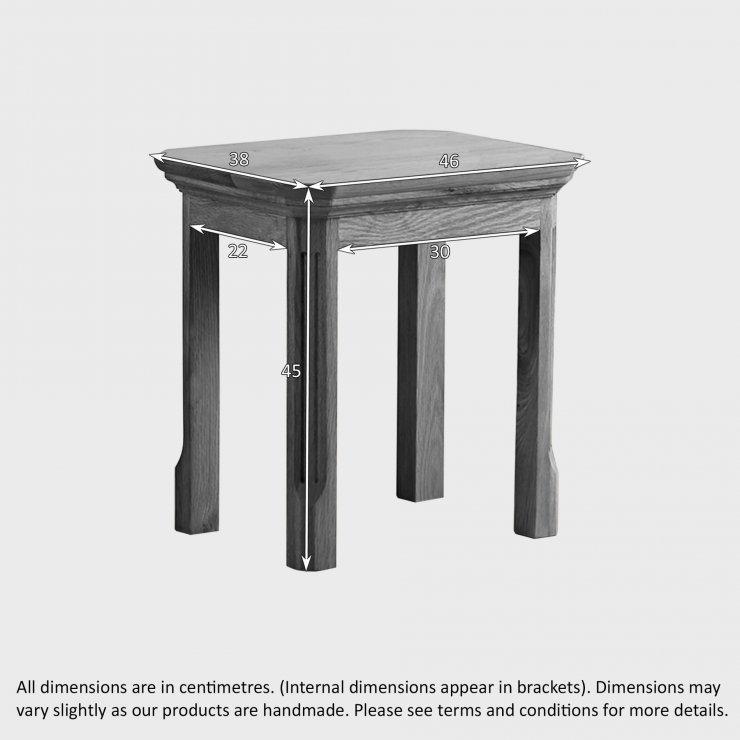 Edinburgh Natural Solid Oak Dressing Table Stool