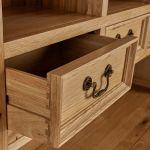 Edinburgh Natural Solid Oak Large Dresser - Thumbnail 4