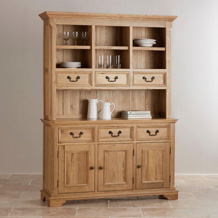 Edinburgh Natural Solid Oak Large Dresser