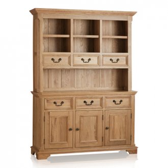 Edinburgh Natural Solid Oak Large Dresser