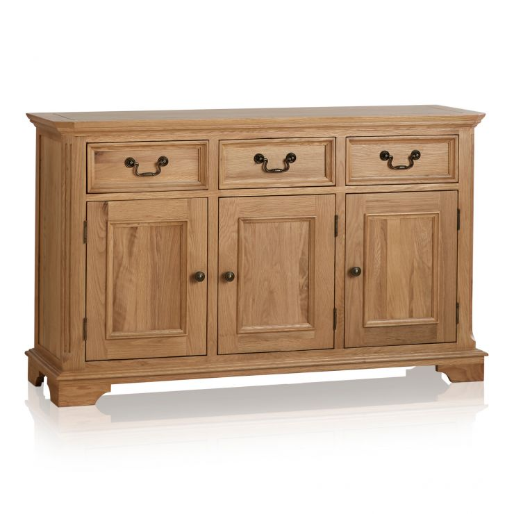 Edinburgh Natural Solid Oak Large Sideboard - Image 1