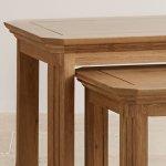 Edinburgh Natural Solid Oak Nest of Tables - Thumbnail 4